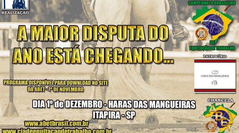 Semana Brasileira de Equitação de Trabalho acontecerá em novembro
